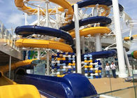 Aqua Park Spiral Water Slide , Outdoor / Indoor Commercial Swimming Pool Slides