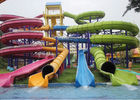 Adult / Kids Body Water Slide Bright Color FRP Large Aqua Park Equipment