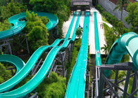 China Outdoor Speed Water Slide Aqua Water Park Swimming Pool Commercial Slide Blue Color factory