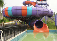 China Super Bowl Water Slide / Theme Water Park Amusement Slide For Large Swimming Pools factory
