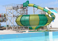 China Space Bowl Funny Custom Water Slides / Amusement Park Equipment company