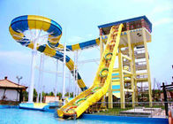 China Custom Boomerang Water Slides Commercial Water Park Equipment Installation For Adults company