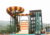 Outdoor Swimming Pool Boomerang Water Slide / Aqua Theme Park Fiberglass Slides