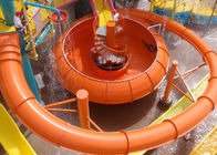 High Speed Space Bowl Water Slide Aqua Park Construction Red Yellow