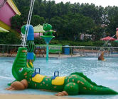 Exciting Fiberglass Crocodile Spray Water Equipment For Children Play In Splash Park