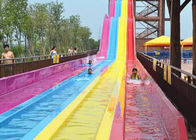 Excited Large Outdoor Rainbow Water Slide Weather Resistance