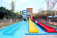 China Stimulating Fiberglass Water Park Slide / High Speed Water Play Equipment For Adults factory