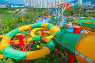 Fiberglass Closed Spiral Black Hole Water Amusement Park Slides For Adult