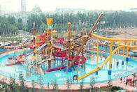 China Big Interactive Fiberglass Water Play House With Water Slide / Aqua Park Equipment company