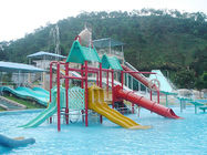 Kids Amusement Park Water Playground / Fiberglass Interactive Water House Toys