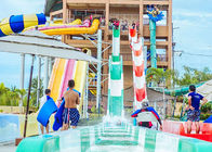 China High Speed Water Slides Funny Swimming Pool Water Amusement For Holiday Resort Visitors company