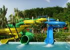 Outdoor Spiral Slide Water Slide Playground For Amusement Park 1 Year Wanrranty