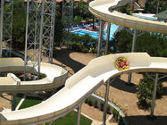 Holiday Resort Family Water Slide / 4 Person Capacity Fiberglass Pool Slide