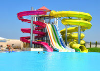 China Fiberglass Combination Water Park Slide For Adult / Spiral Swimming Pool Slide company