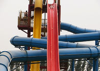 Adult High Speed Water Slide / Commercial Fiberglass Swimming Pool Slide
