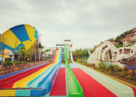 Race Side By Side Water Slide Multi Lane Fiberglass Customized Facility