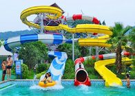 Spiral Water Slides For Holiday Resort Water Park Equipment Combination Water Slide