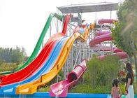 China Amusement Park High Speed Tall Water Slides For Kids Over 6 Years Old company
