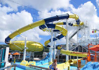 China Mix Color Outside Fiberglass Custom Water Slides With One Year Wanranty company