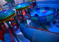 Mix Color Outside Fiberglass Custom Water Slides With One Year Wanranty