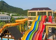 China Rainbow Adult Swimming Pool Water Slides For Holiday Resort 2-14 Visitors company