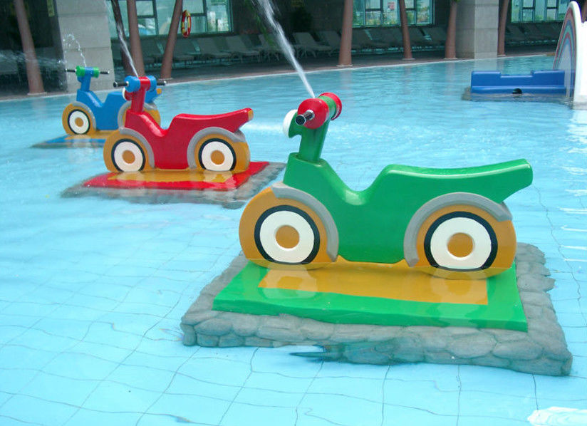 Spray Motorcycle Group Water Park Playground Equipment Customized