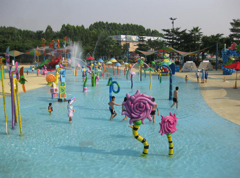 Water Spray Park Equipment With Water Pumping Machine in Aqua Park