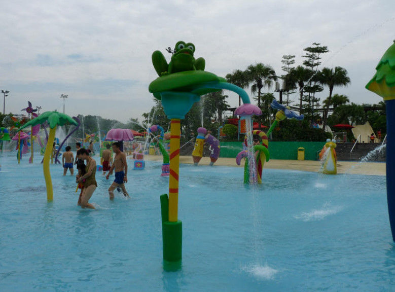 Eco-friendly Water Park Equipment Frog Spalsh Mix Color Kids' Water Playground