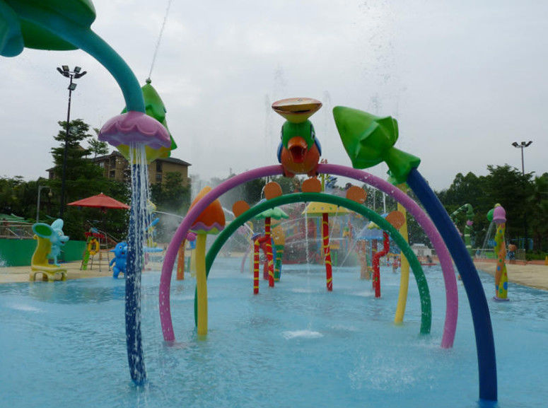Galvanized Carbon Steel Water Spray Park Equipment Colorful Customized Water Toys