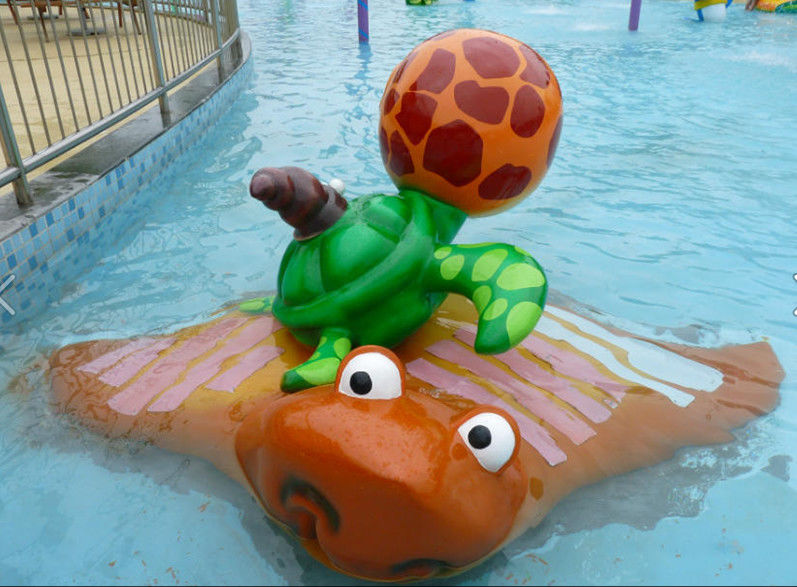 Turtle Splash Kids Water Playground , Fiberglass Swimming Pool Water Playground Fun