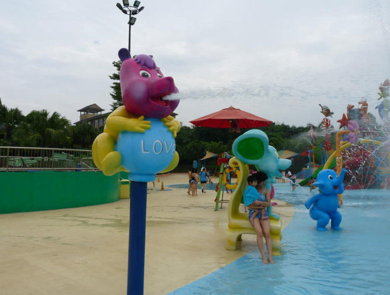 Children Colorful Water Play Area Piggy Spray Fiberglass Equipment