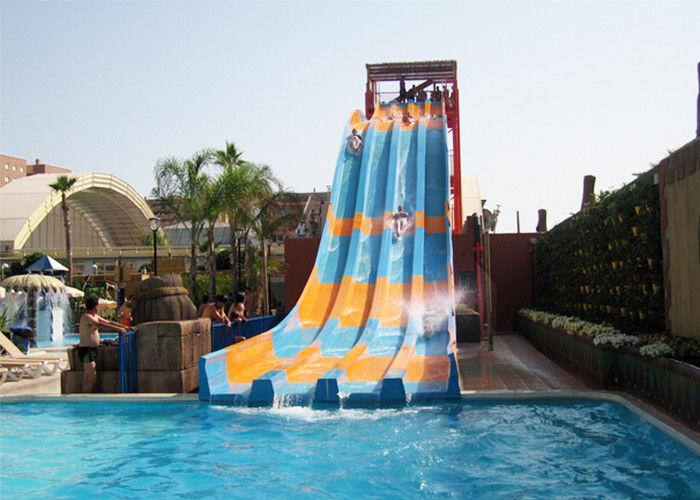 Aqua Play Swimming Pool Water Slides Open Rainbow Fiberglass Multi Lanes