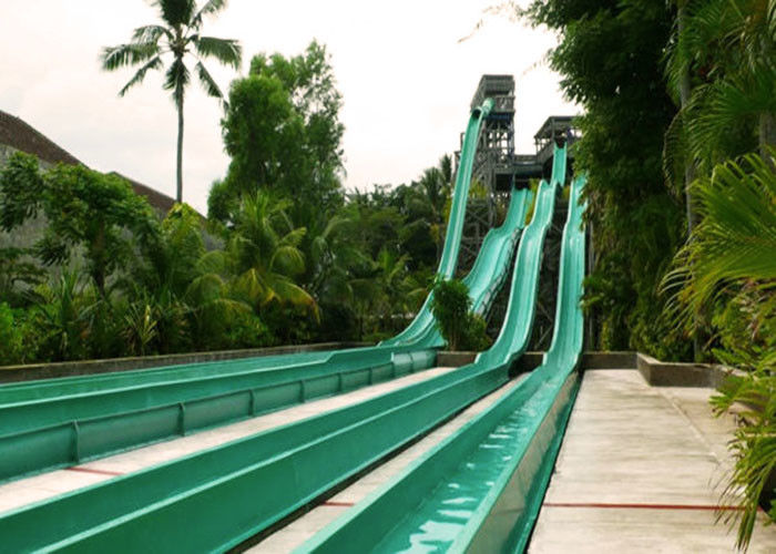 Multicolor High Speed Water Slide , Fiberglass Big Water Slides For Adults