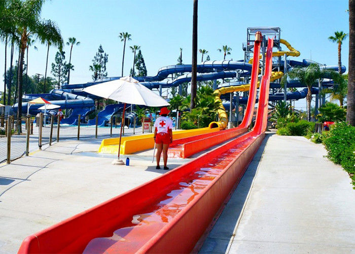 Custom Speed Slide Outdoor Commercial Water Park Equipments Fiberglass Slides For Adult