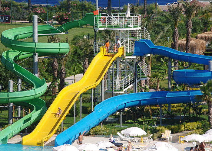 Outdoor Spiral Water Slide Tube Slide Aqua Park Equipment 0.8-1.4m Diameter