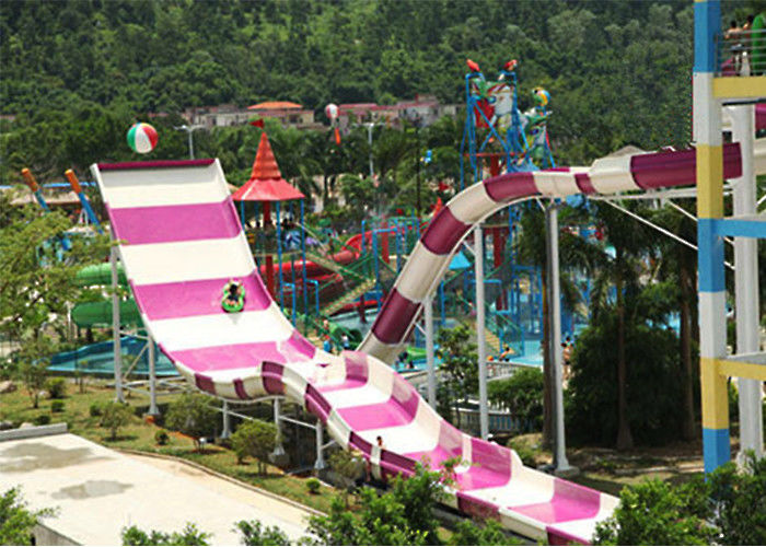 Large Outdoor Family Water Slide Spiral Shape For Extreme Water Park