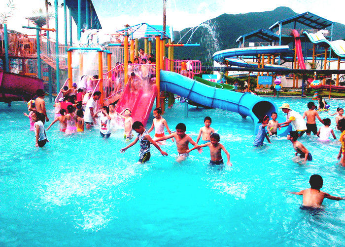 Fiberglass Kids Water House Playground Inside Water Parks With Pump