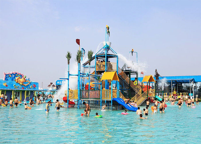 Gigantic Aqua Playground Water House Fiberglass Amusement Park Equipment