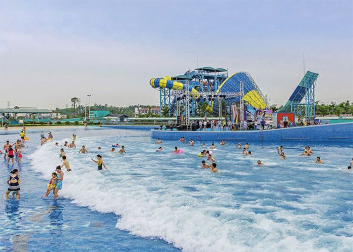 Interactive Water Park Wave Pool , Amusement Park Tsunami Wave Pool