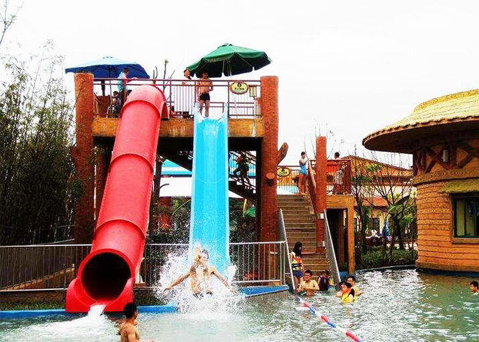 Adults Tube Water Slide , Outdoor Barreled Sled Inground Pool Slide