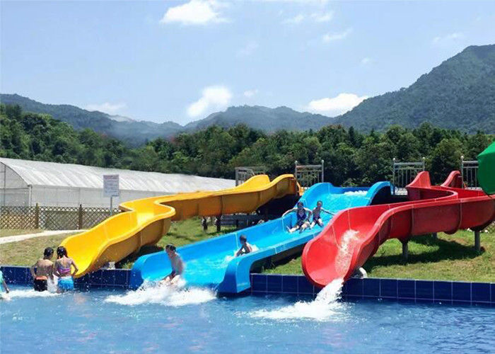 Commercial Above Ground Pool Slide Fiberglass Aqua Funny Equipment