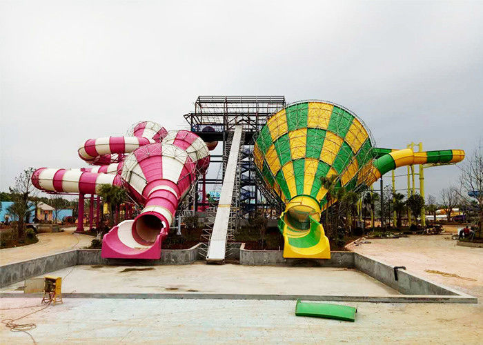 Colorful Tornado Water Slide Fiberglass Customized Safety Equipment