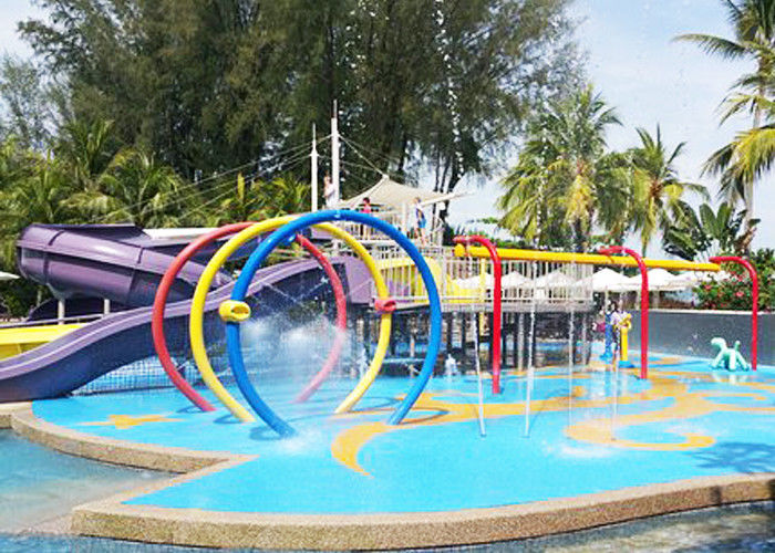 Customized Kids Water Playground Circles Spray With Galvanized Carbon Steel