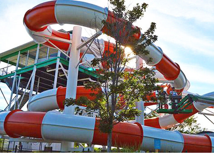 FRP Custom Family Water Slide , Commercial Water Theme Park Awesome Water Slides