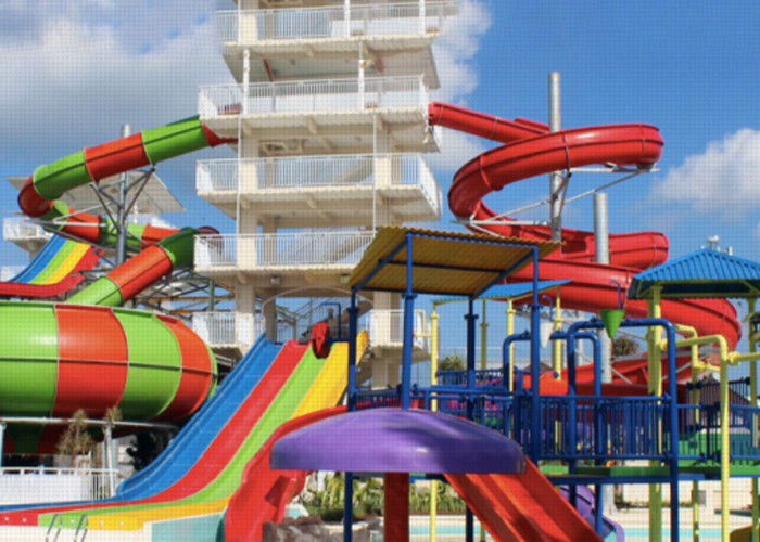 Theme Park Fiberglass Water Slide Customized Closed Tube Spiral FRP For Adult