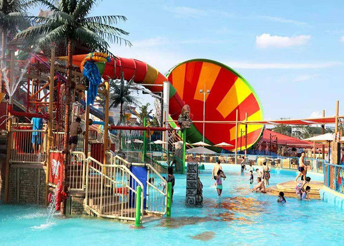 Super Whirlwind Water Slide Aqua Fiberglass Theme Park Equipment