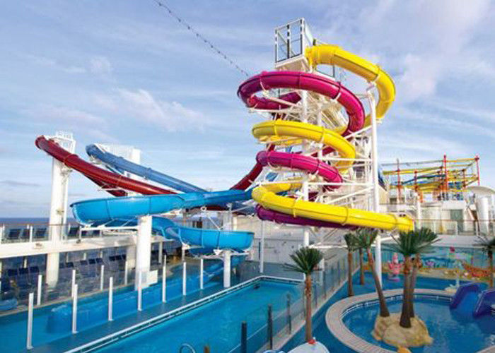 Family Entertainment Big Water Slides Customized Size Anti - Ultraviolet Material