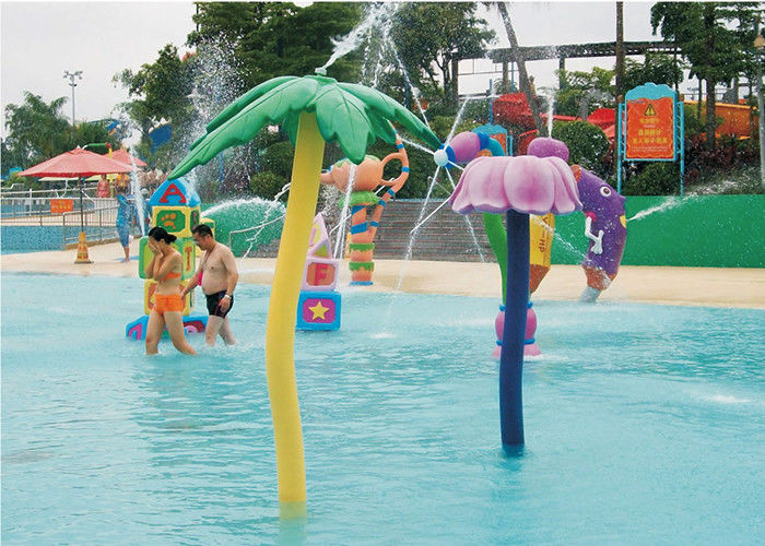 Fiberglass Water Park Sprinklers Splash Playground Different Style Equipment