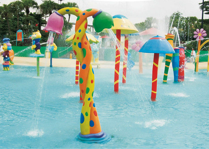 Flower Flowing Children Water Playground Customized Multi Color Spray