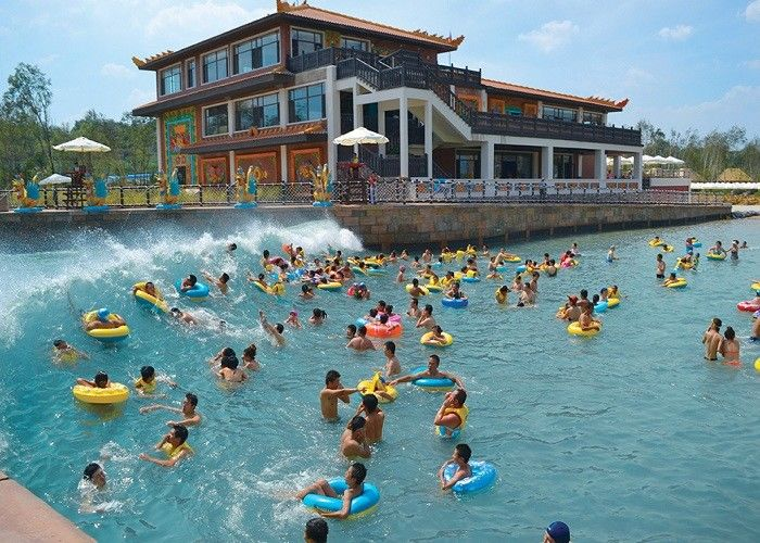 Family Water Park Wave Pool , Safety Air Powered Artificial Wave Pool